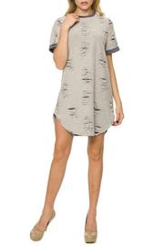 Young At Heart Distressed Shirt Dress - Product Mini Image