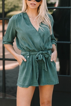 Young Fabulous & Broke Silas Chambray Romper - Product List Image