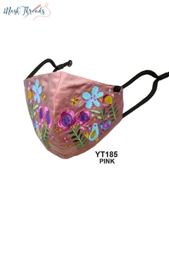 Young Threads Easter Spring Themed Embroidered Face Mask For Women Pack Of 3 Cotton Lining Handcrafted Mask 3layered Face Mask With Nose Wire Ear Loops - Alternate List Image