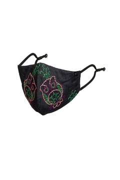 Young Threads Floral Embroidered Mask, 3layered Face Mask  Pin-Pack Of 3 - Alternate List Image