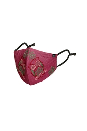 Young Threads Floral Embroidered Mask, 3layered, 100% Cotton Lining Pack Of 3 - Side cropped