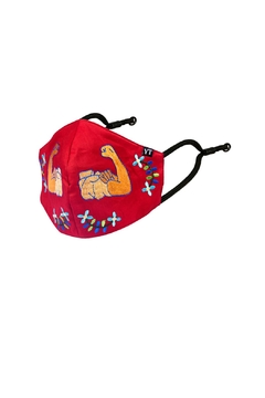 Young Threads Girl Power Embroidered Mask, 100% Cotton Lining , 3 Layered Face Covering- Pack Of 3 - Alternate List Image