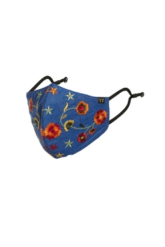 Young Threads Holiday Embroidered Face Mask, 3layered, 100% Cotton Lining- Pack Of 3 - Alternate List Image