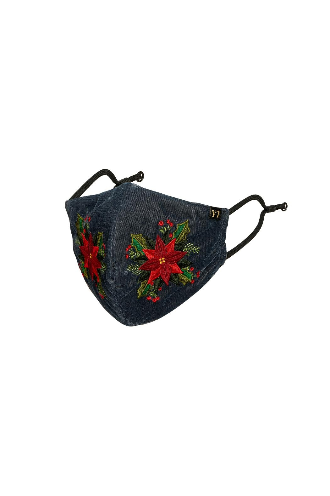 Young Threads Charismas Gift, Holiday Embroidered Face Mask, 3layered, 100% Cotton Lining Pack Of 3 - Side Cropped Image