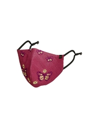 Young Threads Holiday Embroidered Face Mask, 3layered, Nose Pin, Adjustable Ear Loops Pack Of 3 - Back cropped