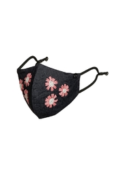 Young Threads Holiday Embroidered Mask, 3layered, 100% Cotton Lining- Pack Of 3 - Side cropped