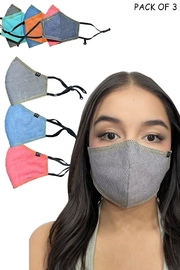 Young Threads Reversible Happy Mix Face Masks - Pack Of 3 - Product Mini Image