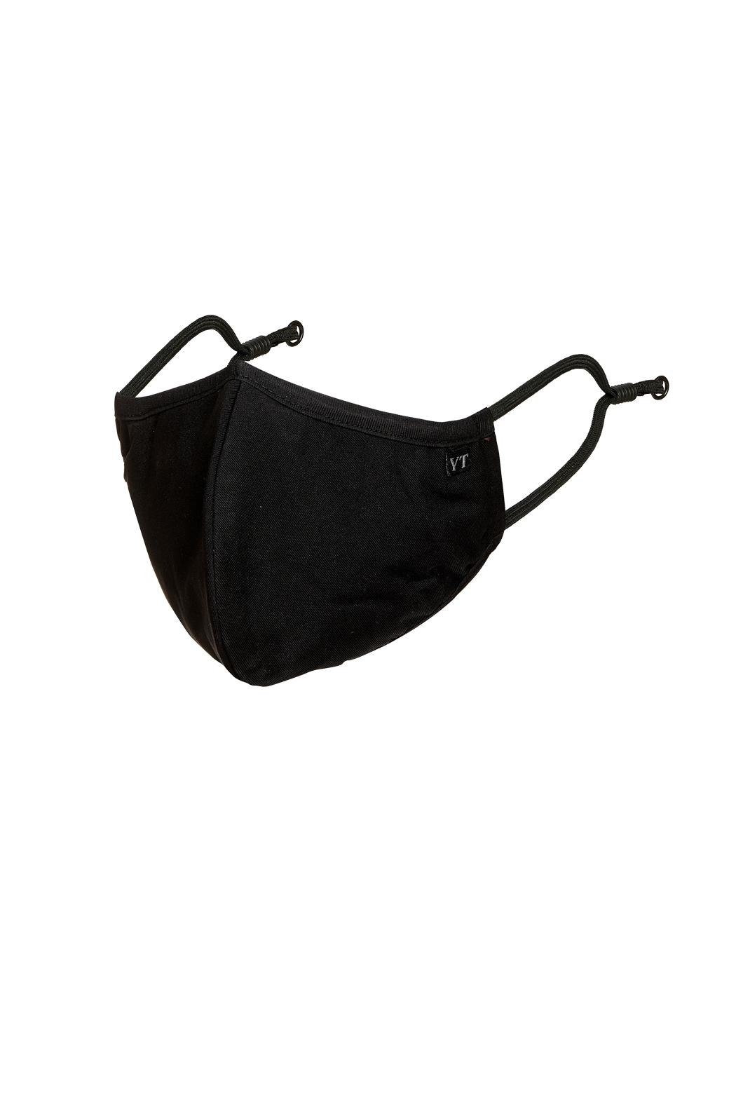 Young Threads Unisex Mask, 100% Cotton Lining , 3layered Face Mask, Adjustable Ear Loops-Pack Of 3 - Front Full Image