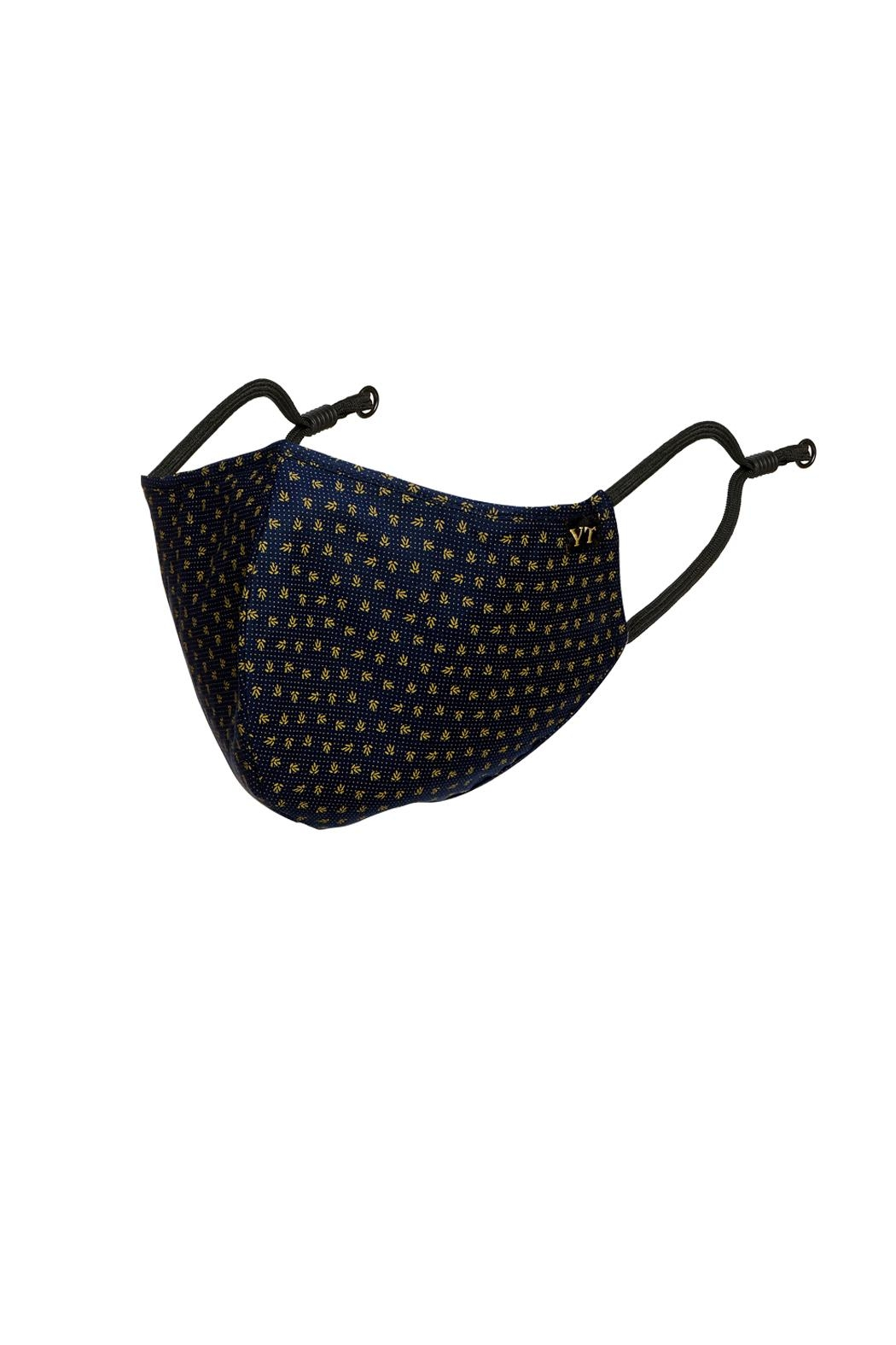 Young Threads Unisex Mask, 100% Cotton Lining , 3layered Face Mask, Adjustable Ear Loops-Pack Of 3 - Back Cropped Image