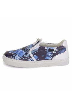 Shoptiques Product: Blue Leather Sneakers