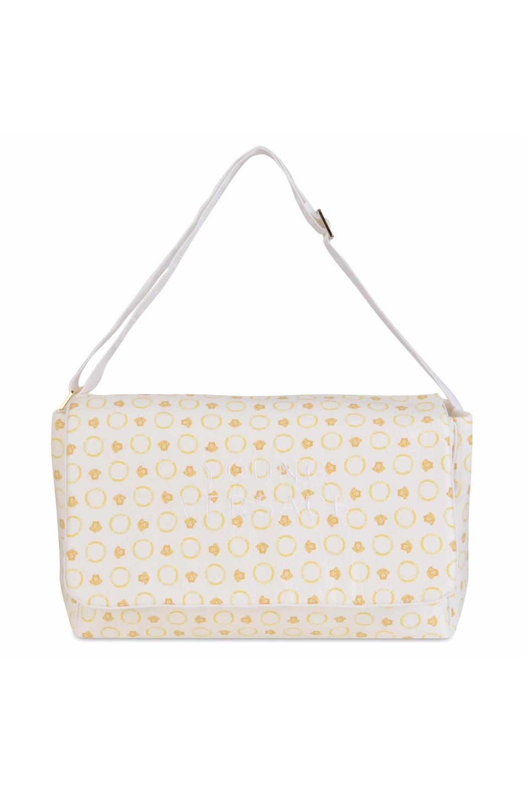 719e7bc181ce Young Versace Gold Medusa Diaper Bag - Front Cropped Image