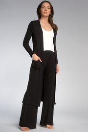 Elan Your Everyday Ribbed Longline Cardigan - Product Mini Image