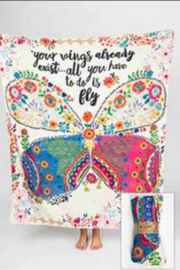 Natural Life Your Wings tapestry blanket - Product Mini Image