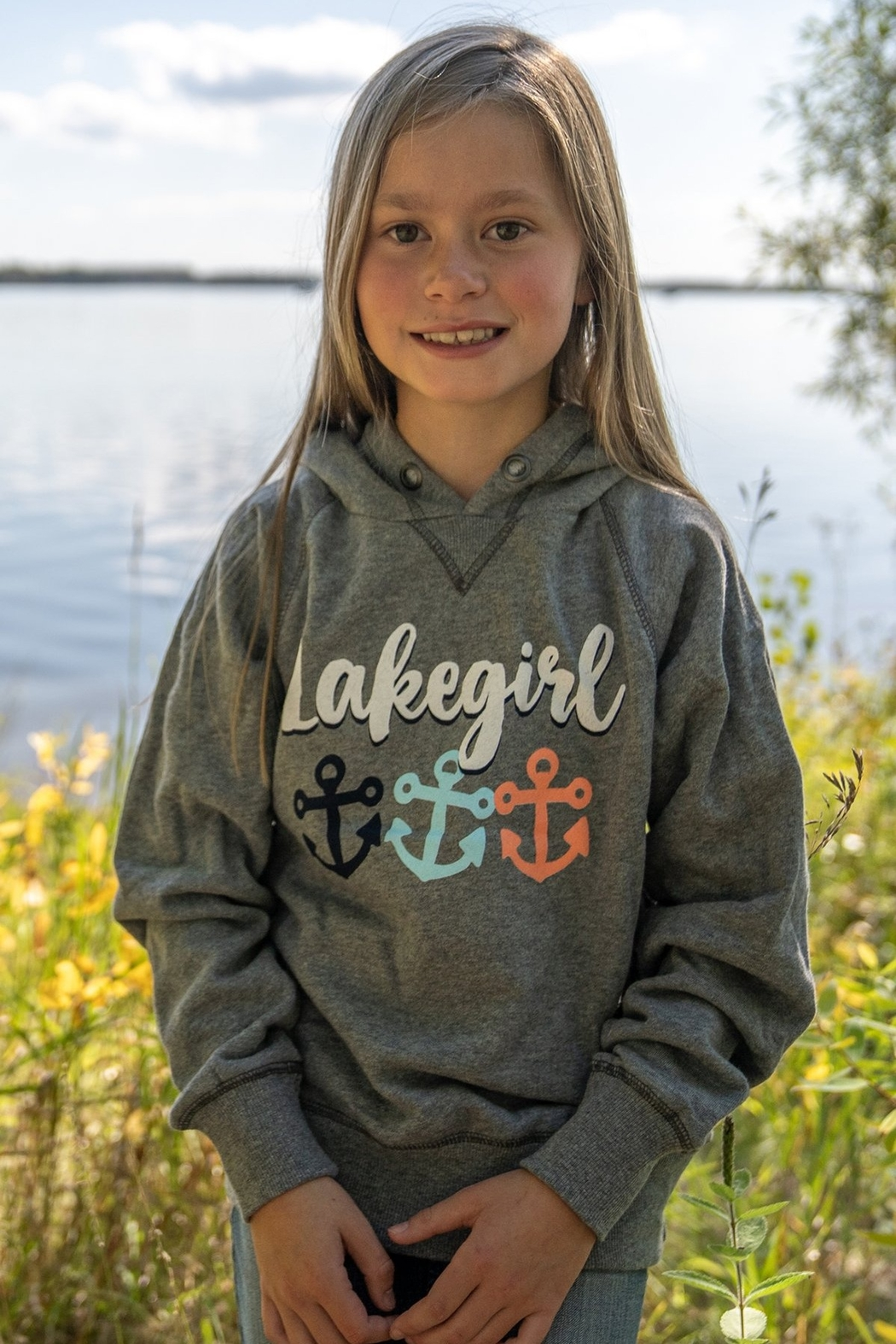 Lakegirl Youth Anchors Pullover Hoodie - Main Image