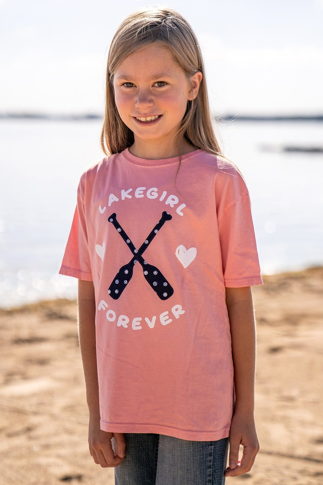 Lakegirl Youth Hearts & Paddles Tee - Main Image