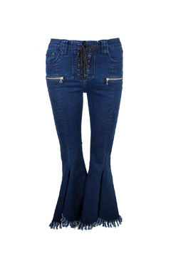 Jovonna  YoYo2 Lace-up Flare Hem Jeans - Alternate List Image