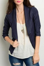 Yoyo5 Navy Denim Blazer - Product Mini Image