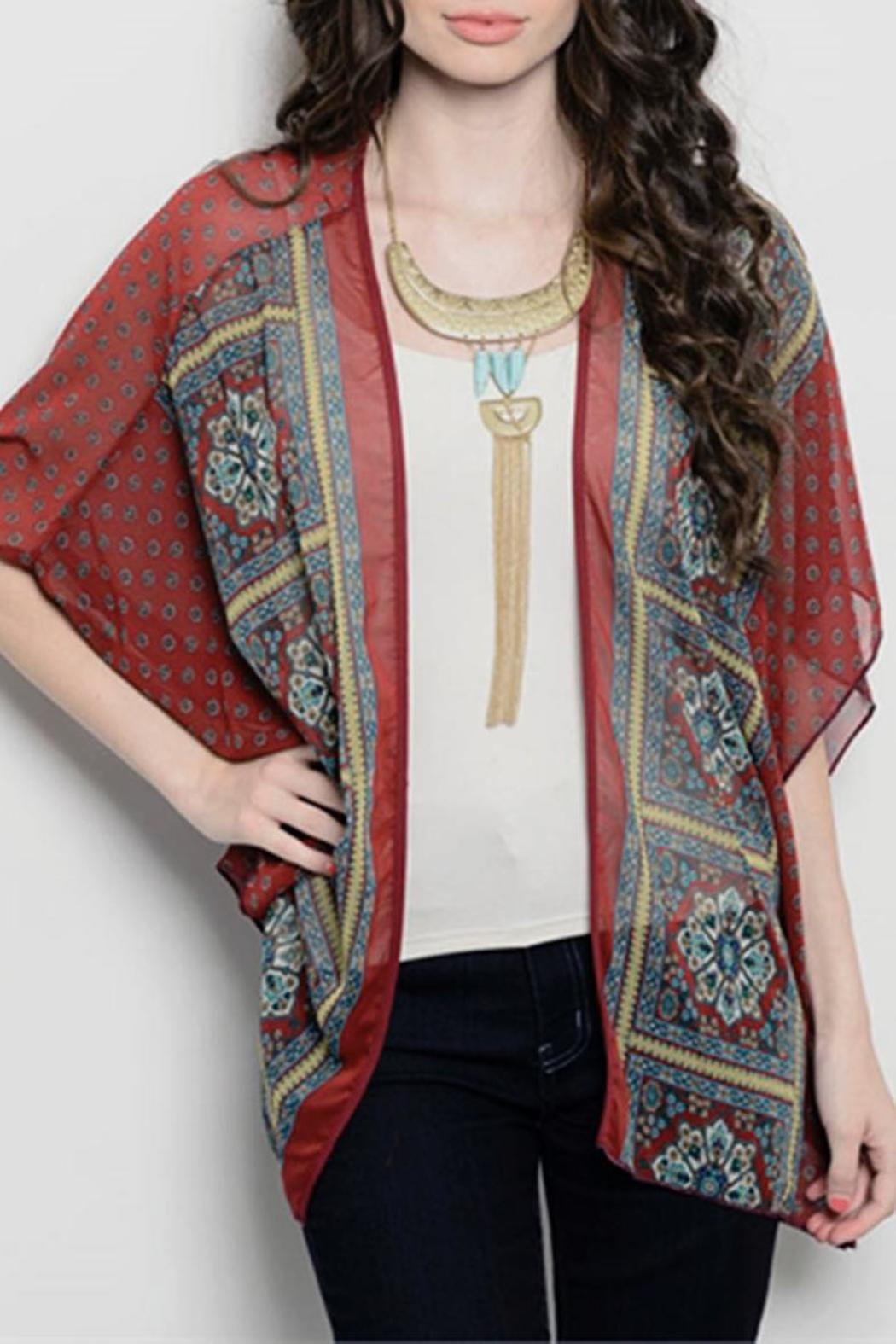 Yoyo 5 Maroon Kimono Cardigan from Tennessee by The Owl Cove ...
