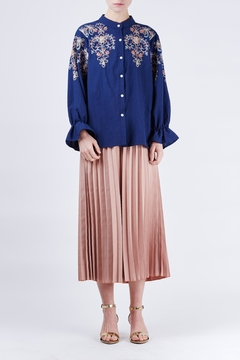 Shoptiques Product: Flower Embroidery Shirt