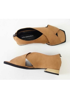 Yuko Imanishi Crosstoe Brown Sandal - Alternate List Image