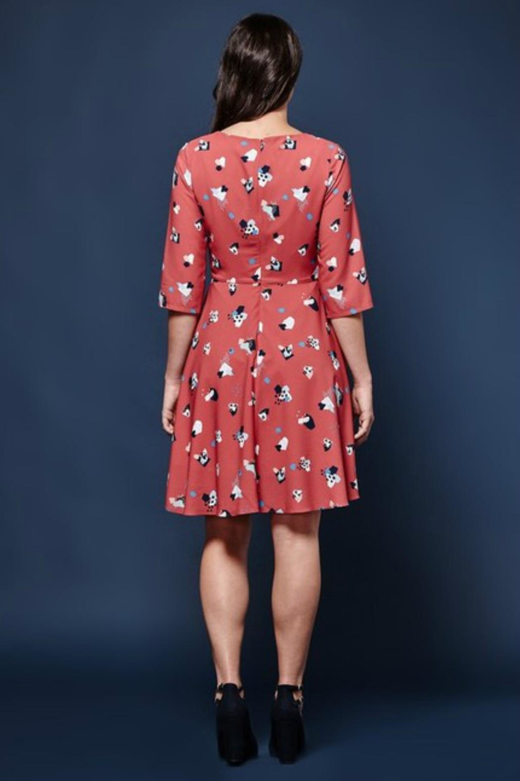 Yumi Abstract Impressionist Dress - Front Full Image