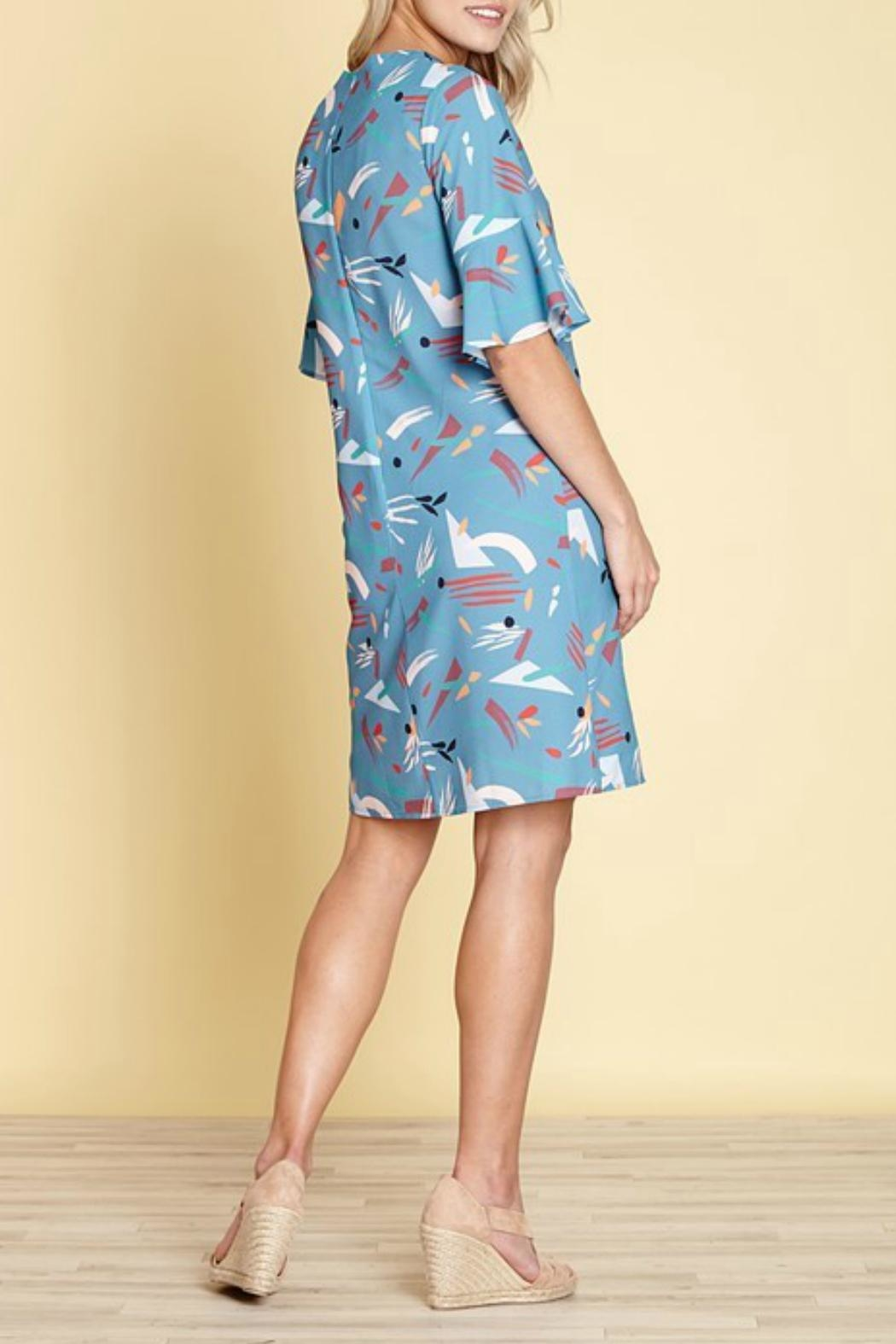 Yumi Abstract Strokes Dress - Front Full Image