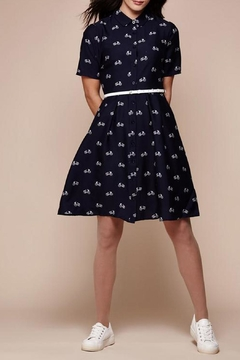 Yumi Bicycle Shirt Dress - Product List Image