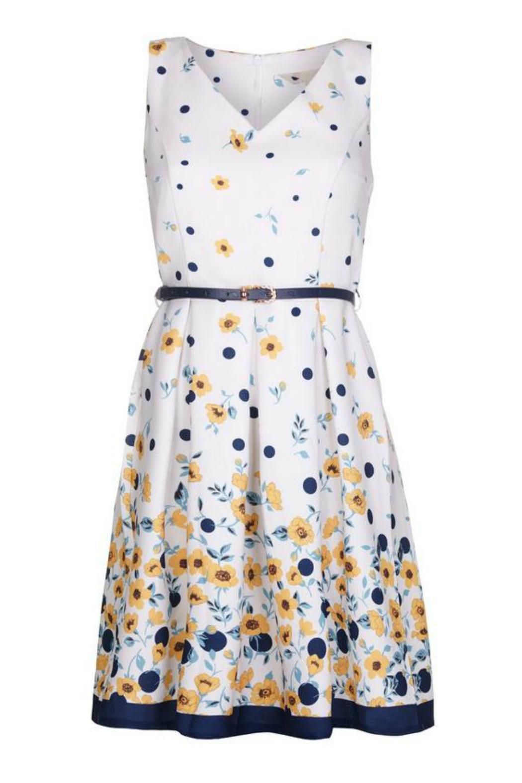 Yumi Buttercup Spot Dress - Front Full Image