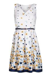 Yumi Buttercup Spot Dress - Front full body
