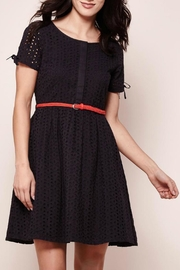 Yumi Cotton Eyelet Dress - Front cropped