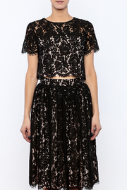Yumi Cropped Lace Top - Side cropped