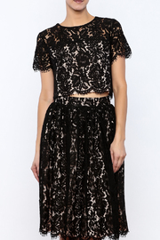 Yumi Cropped Lace Top - Product Mini Image