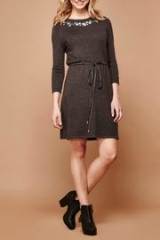 Yumi Embroidered Knit Dress - Front cropped