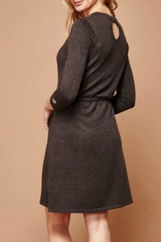 Yumi Embroidered Knit Dress - Front full body