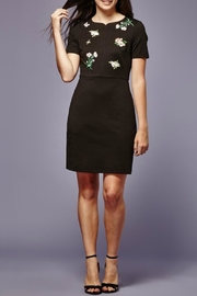 Yumi Embroidered Patch Ponte-Dress - Front cropped