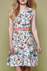 Yumi Floral Belted Day Dress - Product Mini Image