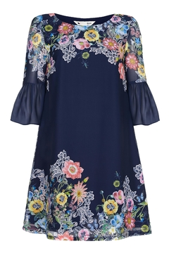 Shoptiques Product: Floral Sleeved Tunic Dress