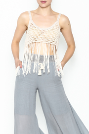 Yumi Fringe Crop Top - Front cropped