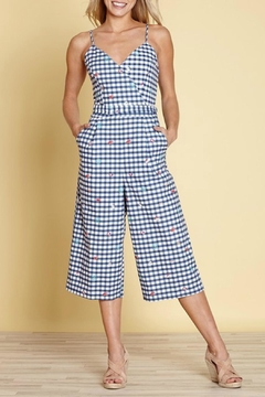 Shoptiques Product: Gingham Jumpsuit
