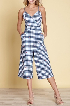 Yumi Gingham Travel Jumpsuit - Product List Image