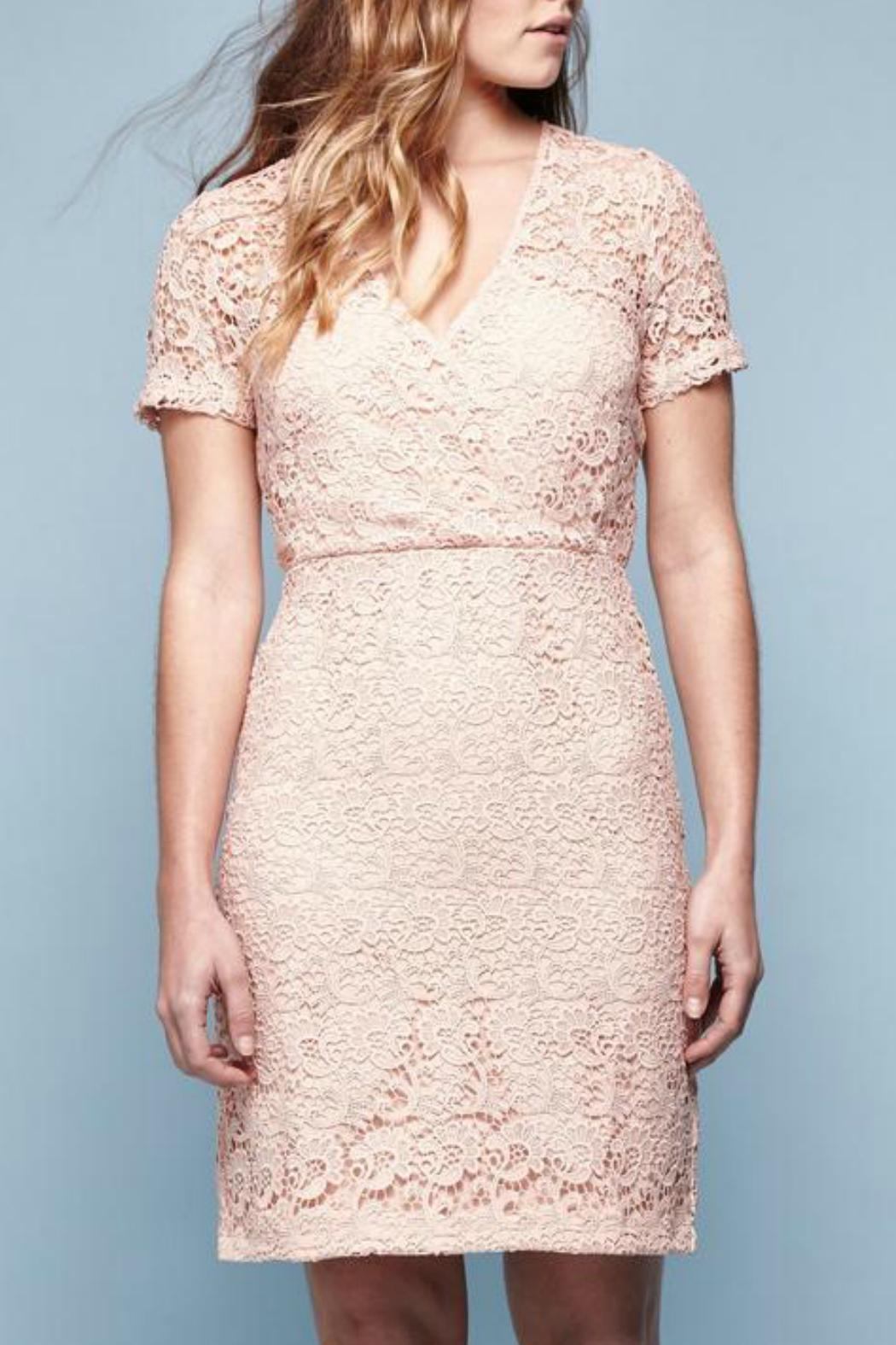 Yumi Guipure Lace Dress - Front Cropped Image