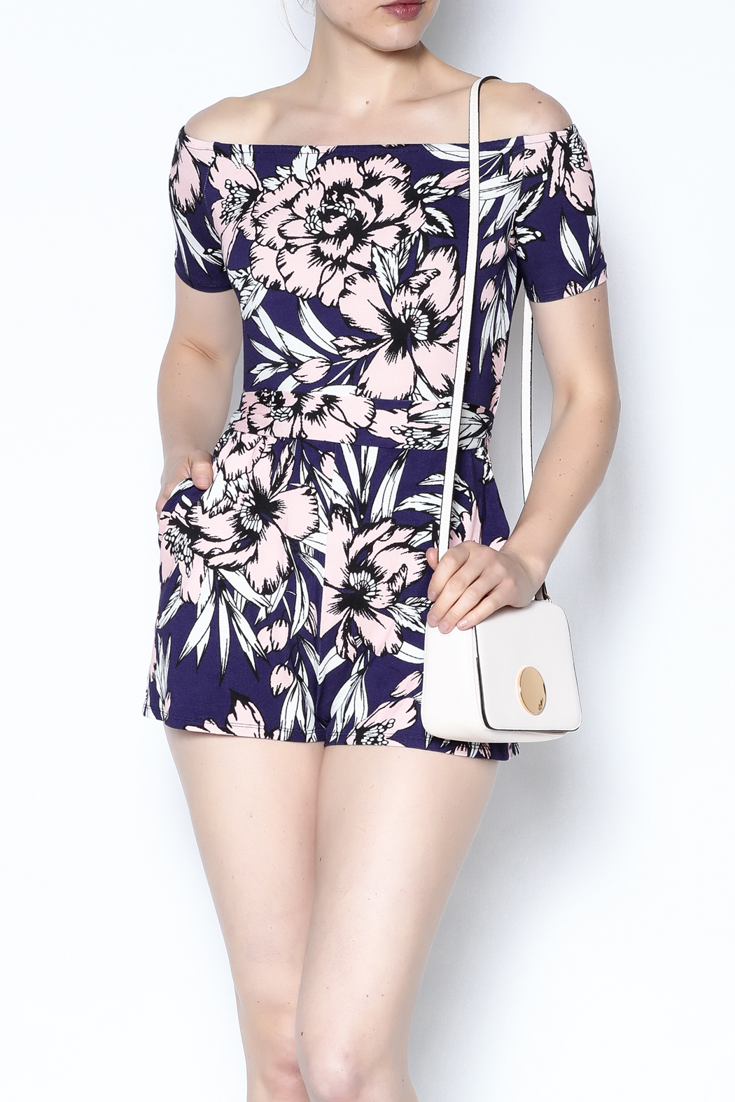 Yumi Kim Off Shoulder Romper - Main Image