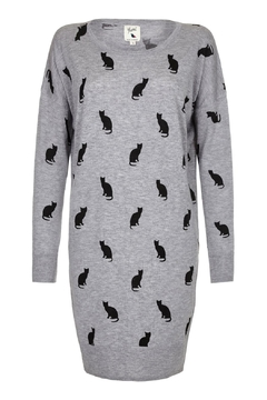 Yumi Kylie Cat Sweater Dress - Product List Image