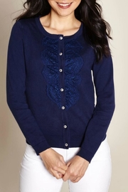 Yumi Lace Placket Cardigan - Product Mini Image