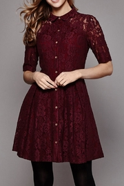 Yumi Lace Shirt Dress - Front cropped