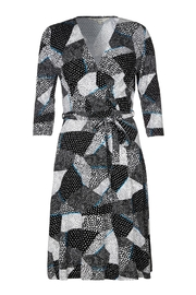 Yumi Mono Pop Wrap Dress - Product Mini Image