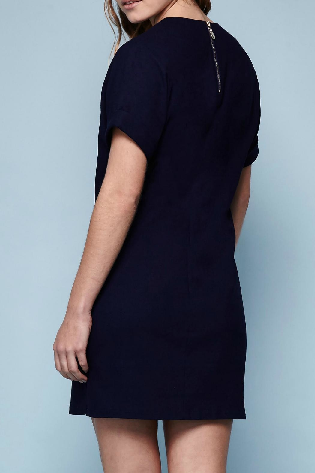 Yumi Navy Shift Dress - Side Cropped Image