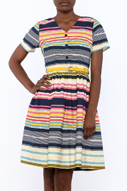 Yumi Nordic Stripe Dress - Product Mini Image