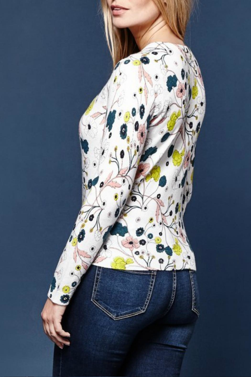 Yumi Nouveau Floral Cardigan - Front Full Image