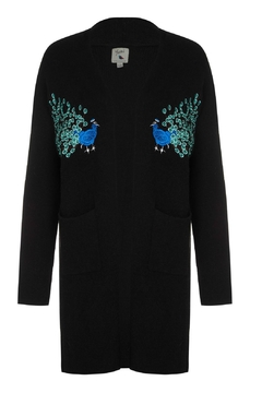 Yumi Peacock Embroidered Cardigan - Product List Image